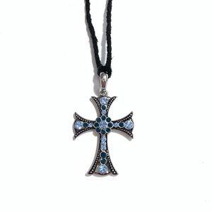 Lia sophia blue cross necklace